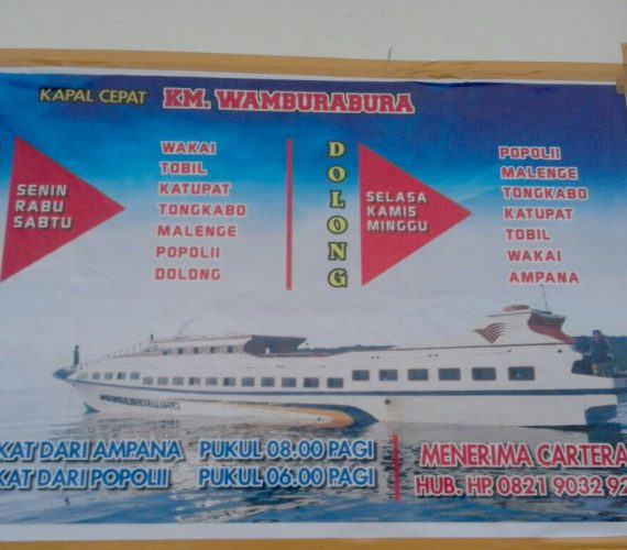 NEW schedule of KM. Wamburabura